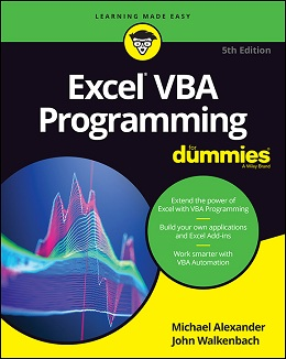 Excel VBA Programming For Dummies, 5th Edition